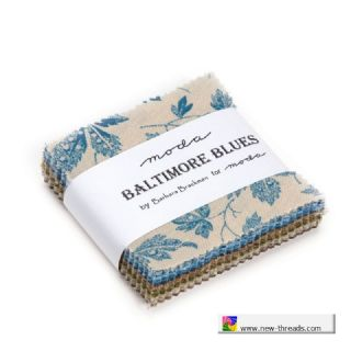 Baltimore Blues  - Moda Mini Charm Pack UK Barbara Brackman for Moda Fabrics